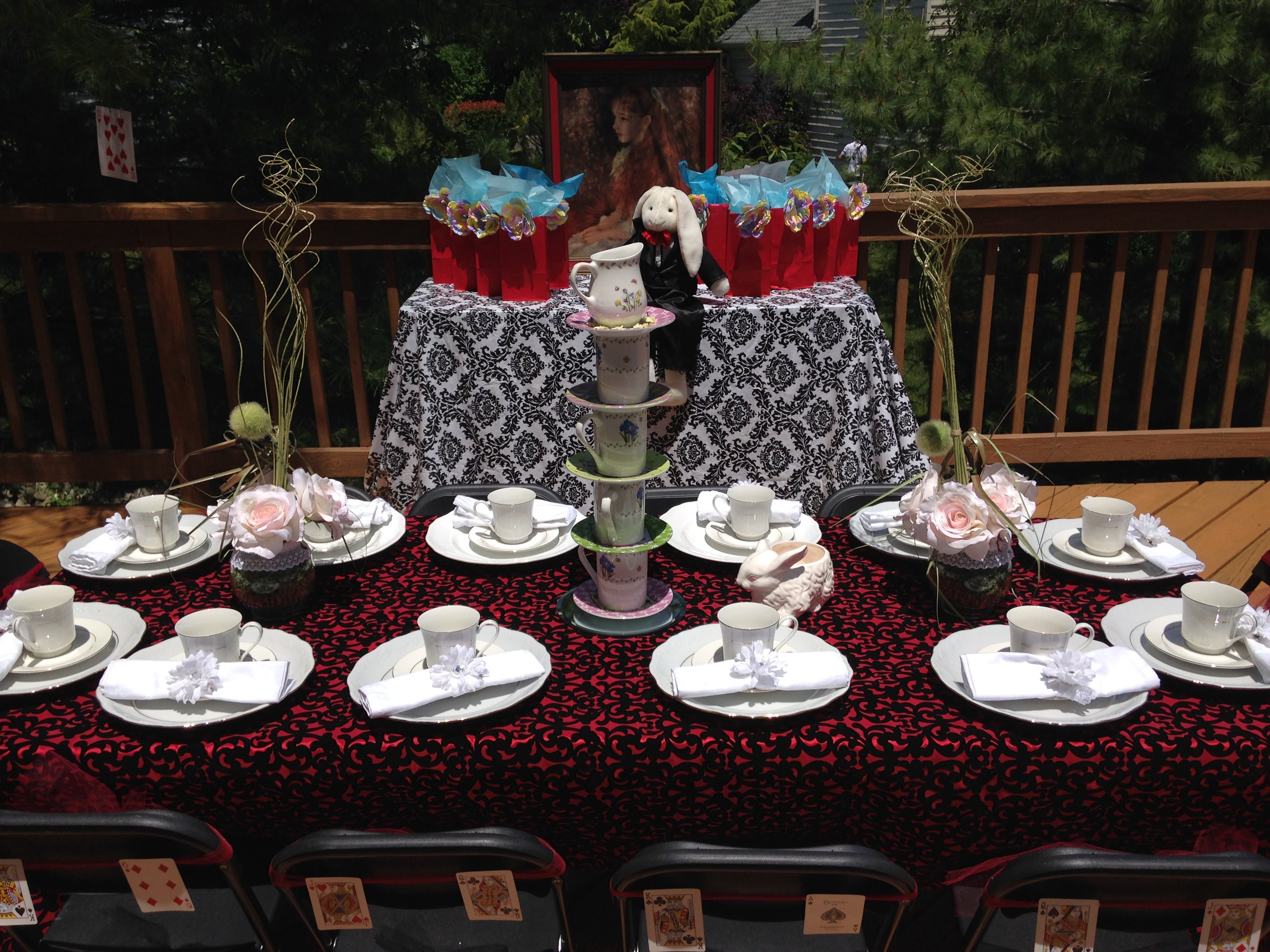 NJ Tea Parties At Home Alice In Wonderland Theme Party For